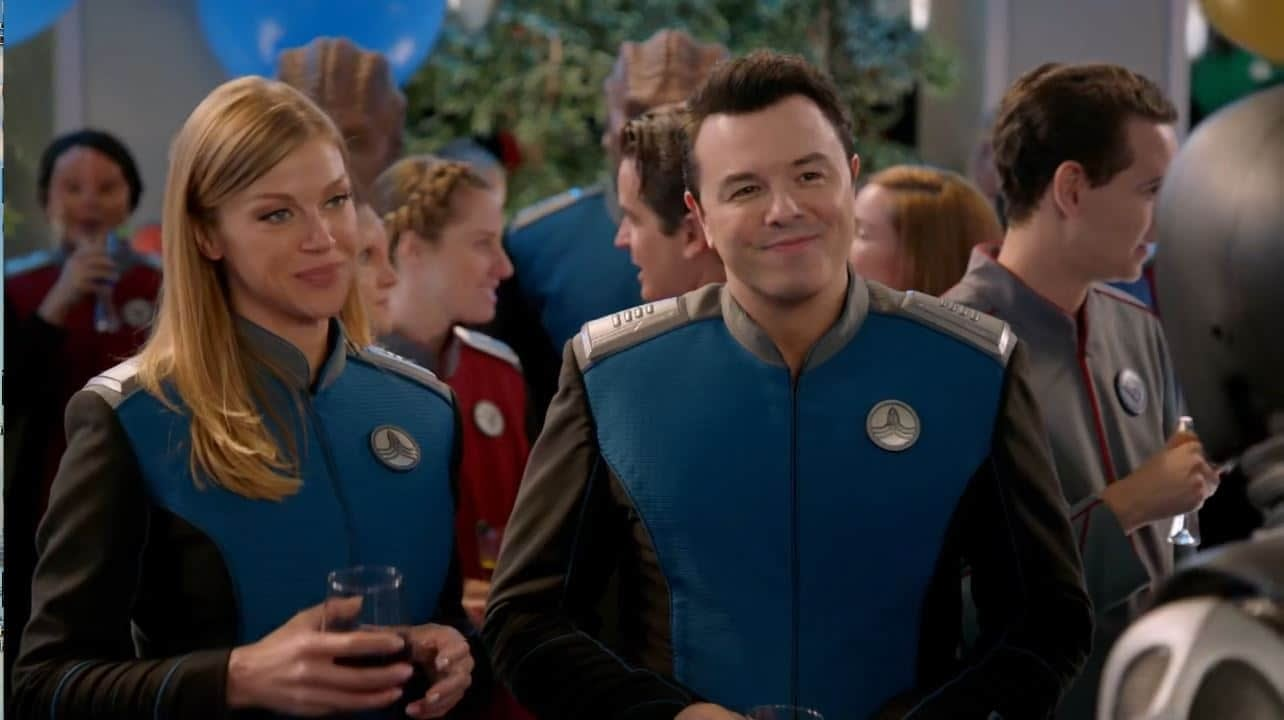 The Orville - Identity Part I Adrienne Palicki and Seth MacFarlane