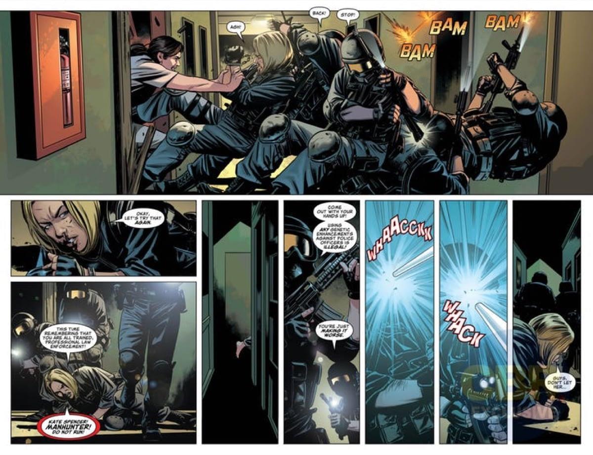 Manhunter Debuts, Beats Up Cops in Action Comics #1011 (Preview)