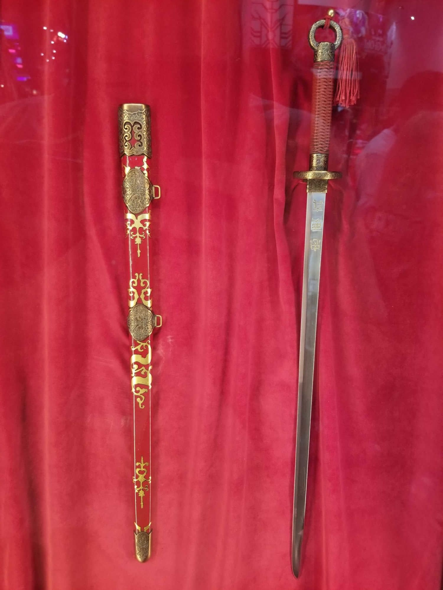 "The Sword from ""Mulan"" is on Display at SDCC"