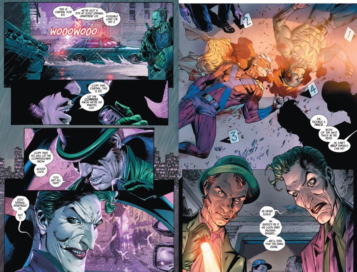 Joker and Riddler Join the Police Force in Batman #75