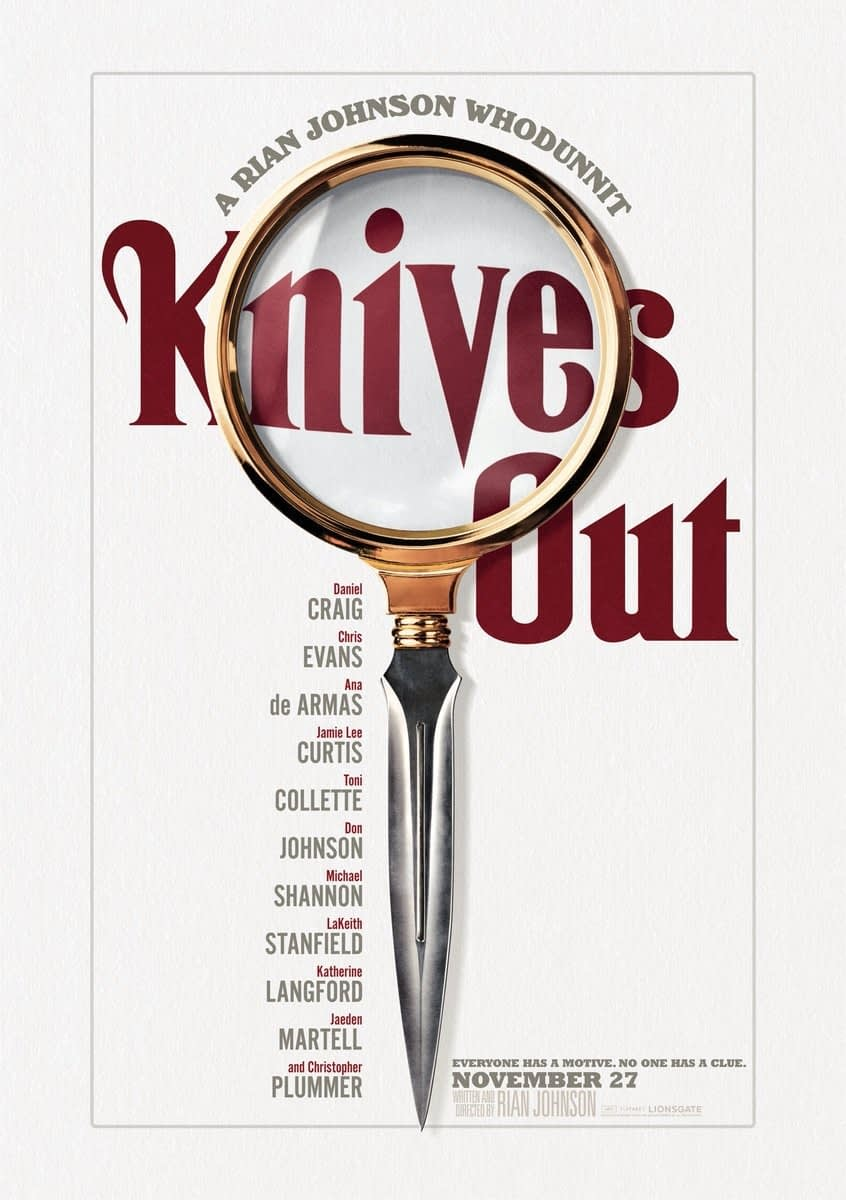 """""""Knives Out"""": Rian Johnson Unveils All-Star Modern Day Murder Mystery [OFFICIAL TRAILER]"""