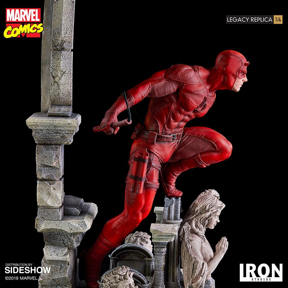 Daredevil Arrives with New Statue by Sideshow/Iron Studios.
