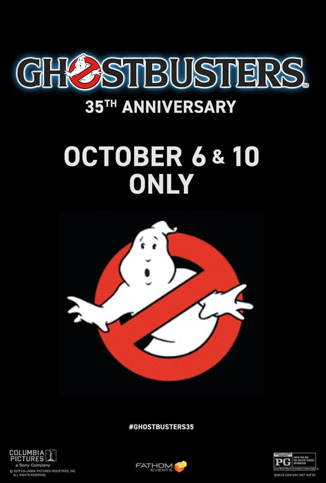 """""""Ghostbusters"""" Returning to Theaters for 35th Anniversary from Fathom Events"""