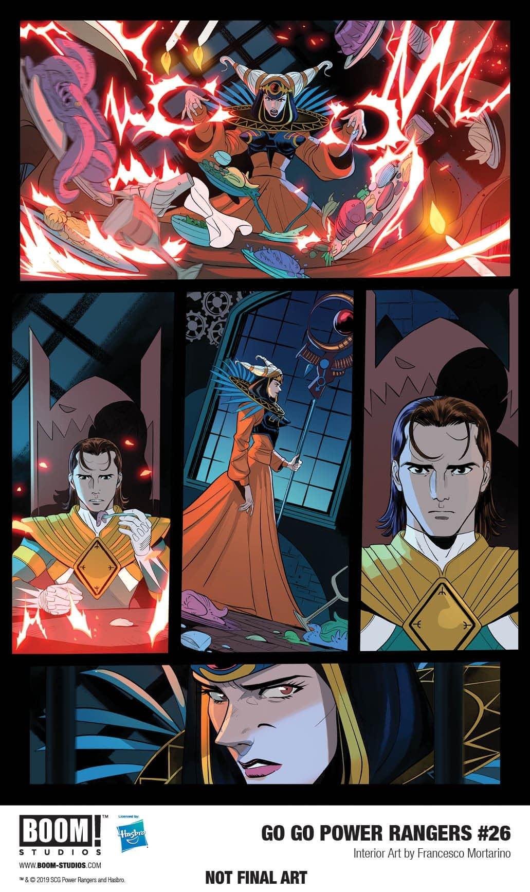 3 Pages from December's Go Go Power Rangers #36